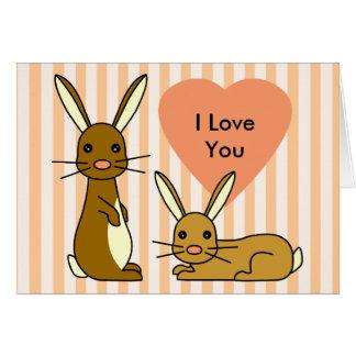 Amor del conejito - conejos lindos tarjeta de felicitación