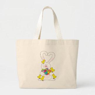 Amor del conejito de pascua bolsas de mano