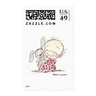 ¡Amor del conejito EAS-007! Timbres Postales