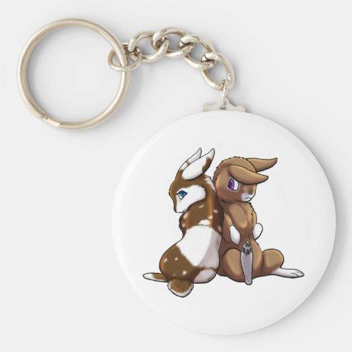 Amor del conejito llavero personalizado