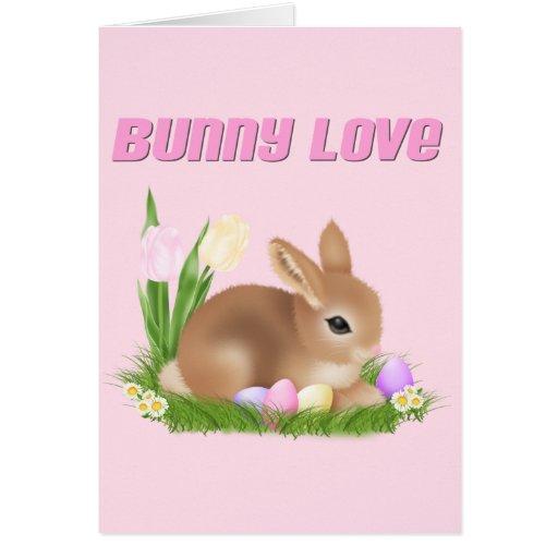 Amor del conejito tarjeta de felicitación