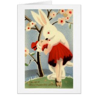 Amor del conejito tarjeta pequeña