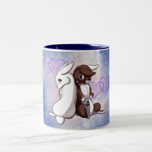 Amor del conejito taza de café