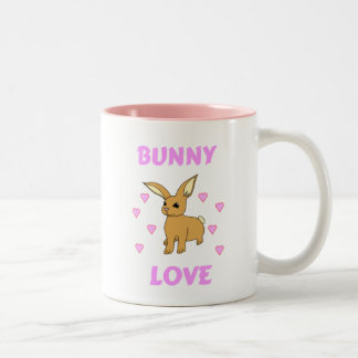 Amor del conejito taza de dos tonos