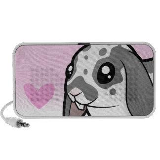 Amor del conejo (pelo liso del oído flojo) iPod altavoces