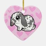 Amor del conejo (pelo liso del oído flojo) ornamento para reyes magos