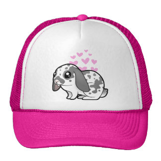 Amor del conejo (pelo liso del oído flojo) gorro