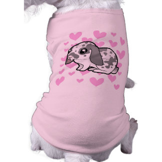 Amor del conejo (pelo liso del oído flojo) playera sin mangas para perro