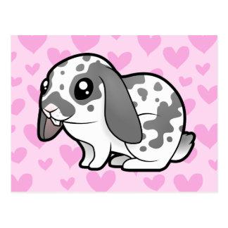 Amor del conejo (pelo liso del oído flojo) tarjetas postales