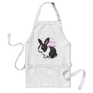 Amor del conejo (pelo liso del oído uppy) delantales