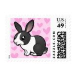 Amor del conejo (pelo liso del oído uppy) franqueo