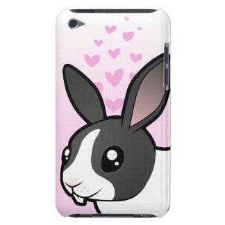 Amor del conejo (pelo liso del oído uppy) iPod Case-Mate cárcasas