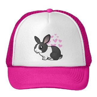 Amor del conejo (pelo liso del oído uppy) gorras de camionero