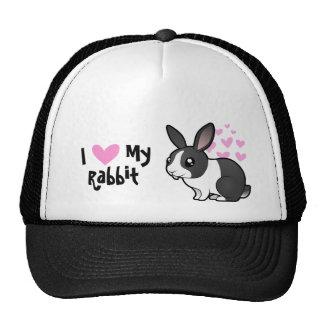 Amor del conejo (pelo liso del oído uppy) gorro de camionero
