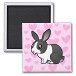 Amor del conejo (pelo liso del oído uppy) iman de nevera
