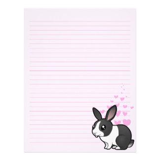 Amor del conejo (pelo liso del oído uppy) membrete