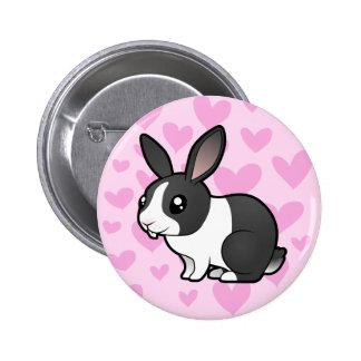 Amor del conejo (pelo liso del oído uppy) pins