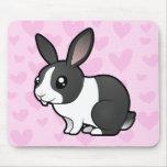 Amor del conejo (pelo liso del oído uppy) tapetes de ratón