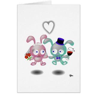 amor del conejo tarjeta de felicitación