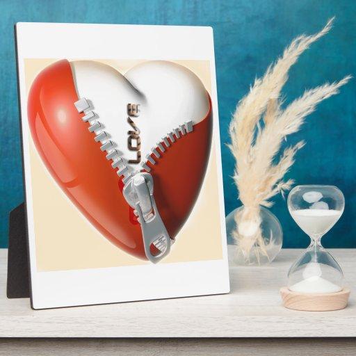amor del corazón 3D Placa De Madera