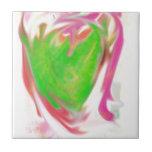 Amor del corazón azulejo