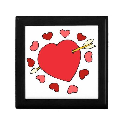 amor del corazón caja de joyas