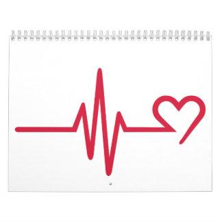 Amor del corazón de la frecuencia calendarios