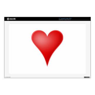 Amor del corazón fresco calcomanías para 43,2cm portátiles