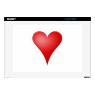 Amor del corazón fresco skins para 38,1cm portátil