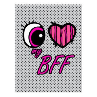 Amor del corazón I del ojo de Emo mi mejor amigo d Postales