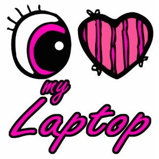 Amor del corazón I del ojo de Emo mi ordenador por Llavero Fotográfico