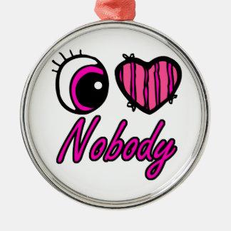 Amor del corazón I del ojo de Emo nadie Adorno Redondo Plateado