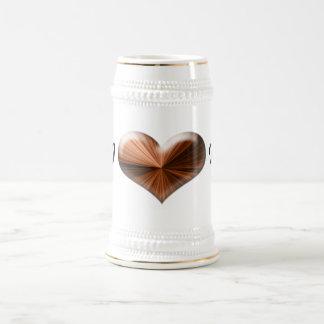 "Amor del ""corazón I"" usted Stein Jarra De Cerveza"