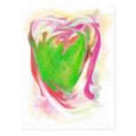 Amor del corazón postal