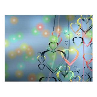 Amor del corazón tarjeta postal