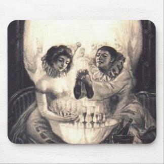 Amor del cráneo, cojín de ratón de la ilusión ópti alfombrillas de raton