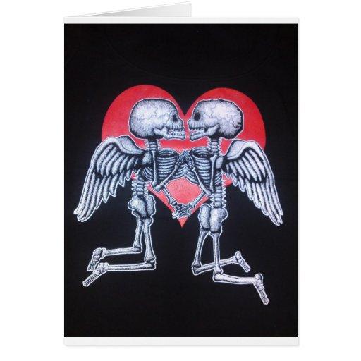 amor del cráneo felicitacion