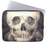 """Amor del cráneo, ilusión óptica 13"""" manga del orde funda ordendadores"""