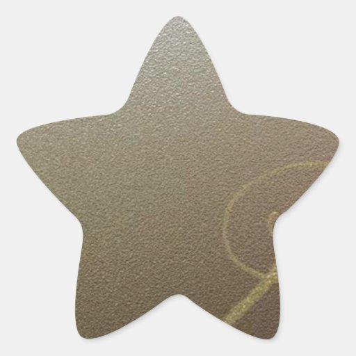 Amor del cromo pegatina en forma de estrella