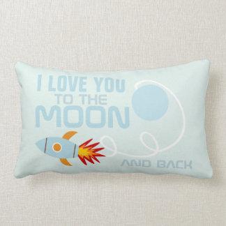 Amor del cuarto de niños usted a la luna y al cojín
