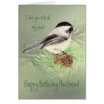 Amor del cumpleaños del marido mi pájaro del Chick Felicitaciones