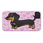 Amor del Dachshund (capa lisa) Case-Mate iPhone 4 Protectores