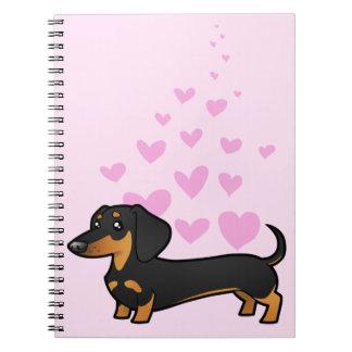 Amor del Dachshund (capa lisa) Libros De Apuntes