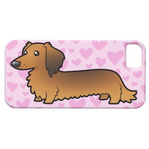 Amor del Dachshund (de pelo largo) iPhone 5 Carcasas