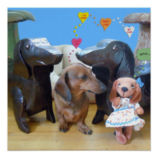 Amor del Dachshund Perfect Poster