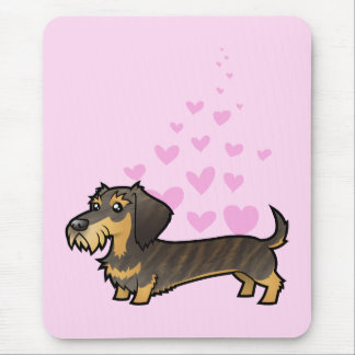 Amor del Dachshund (wirehair) Mouse Pads