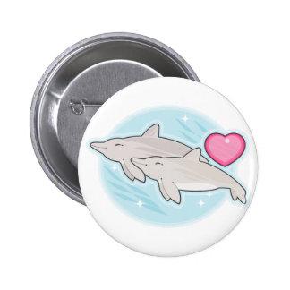 amor del delfín pin
