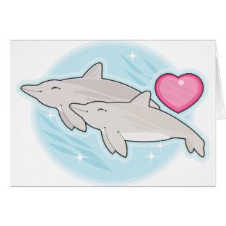 amor del delfín tarjeta de felicitación