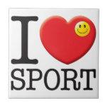 Amor del deporte teja  ceramica