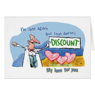 Amor del descuento tarjeta de felicitación
